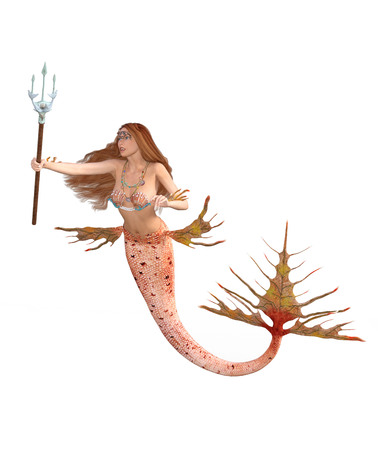 A Mermaid Holding a Trident