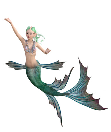 A Swimming Mermaid