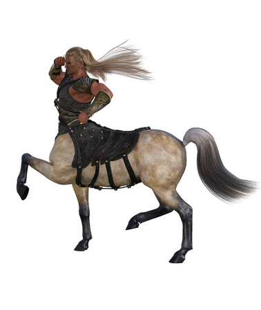 3D Render of A Walking Centaur with Armor