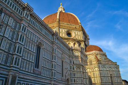 Cattedrale di Santa Maria del Fiore (Florence Cathedral, Cathedral of Saint Mary of the Flower, Il Duomo di Firenze) in Florence, Italy. 免版税图像
