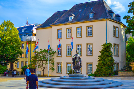 Monument of Grand-Duchess Charlotte in Place de Clairefontaine, in Luxembourg City, Luxembourg
