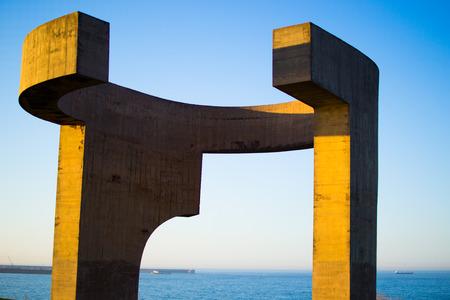 Eulogy to the Horizon (Elogio del Horizonte) by Eduardo Chillida in Gijon, Asturias, Spain.