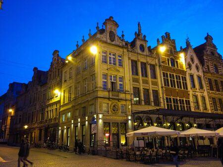 Leuven, Belgium; 10/28/2018: Typical belgian houses in Leuven, Belgium, Europe Stock fotó