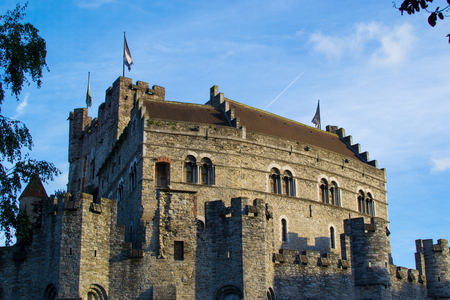Gravensteen (or Castle of the Counts), famous medieval monument in Ghent, Belgium