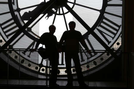 Clock at the Orsay Museum (Musée dOrsay) photo