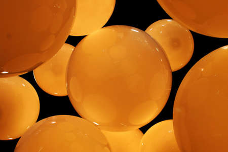 amber coloured: Abstract pattern of orange circles