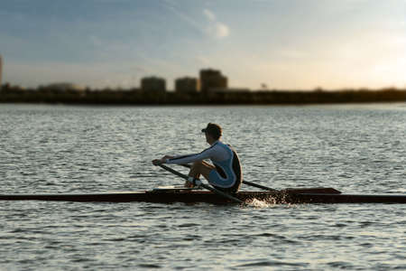 strenuous: Rowing alone