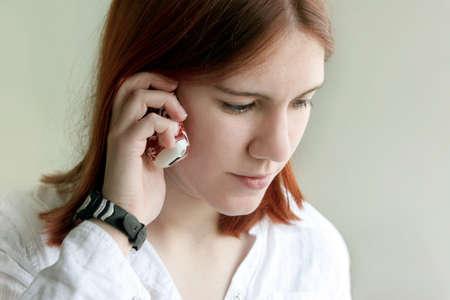 Girl on the phone 免版税图像