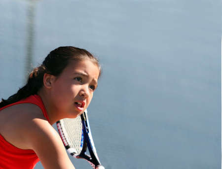 Girl playing tennis Stock Photo - 221986