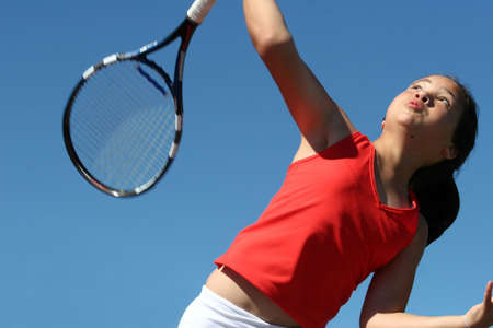 Girl playing tennis Stock Photo - 221982