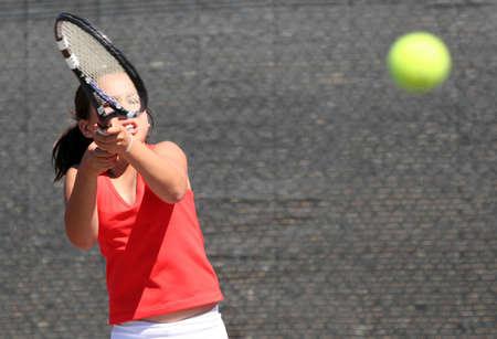 raquet: Girl playing tennis