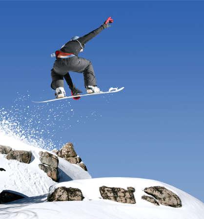 snowboarder: Dangerous jump