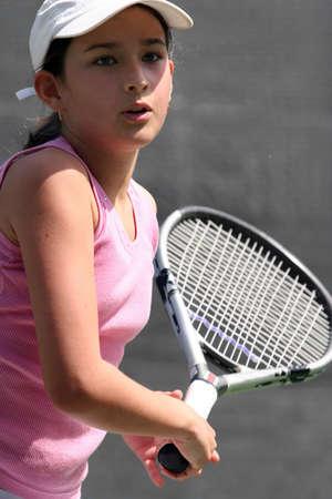 Girl playing tennis Stock Photo - 222940