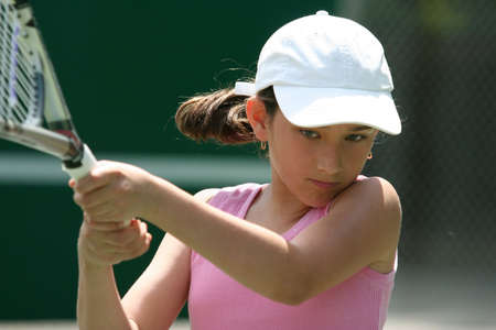 playing tennis: Girl playing tennis