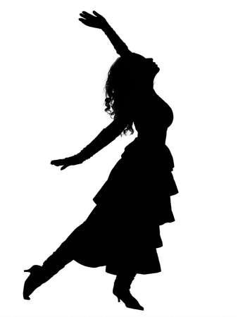 Dramatic dancer Stock Photo