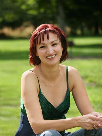 Happy mature woman outdoors Reklamní fotografie