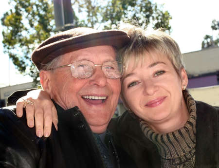 Young woman and her grandfather photo