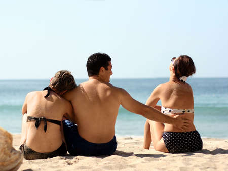 Love triangle on the beach