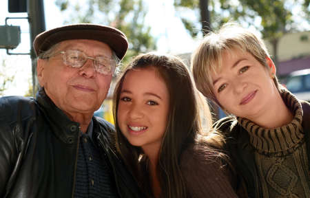 Girl, her mother and grand father Stock Photo - 291449