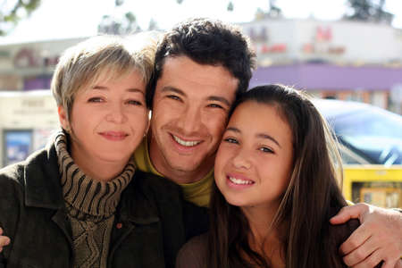 Mother, father and daughter Stock Photo - 291442