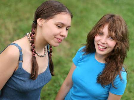Happy friends outdoors Foto de archivo
