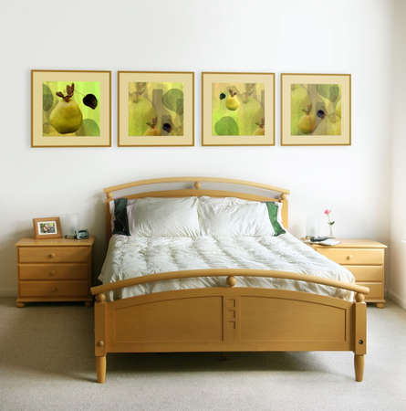 nightstands: The pictures on the wall and on the nightstand are my own images