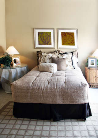 nightstands: Modern bedroom (The pictures on the wall and on the nightstands are my own images)