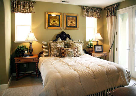 Luxury bedroom (The pictures on the wall are my own images)