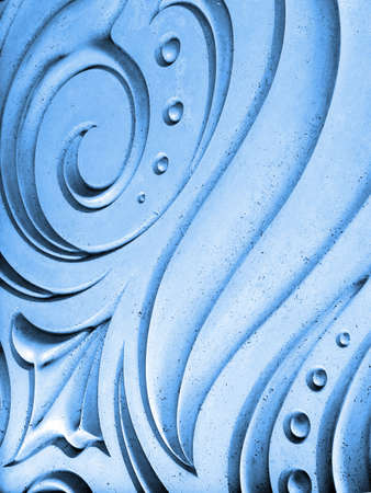 Abstract blue spiral background photo