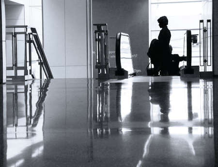 Woman at the airport photo