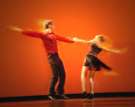 Dramatic image of a couple dancing