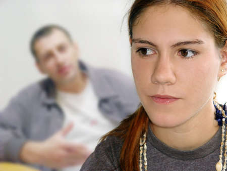 teens school: Family problems Stock Photo