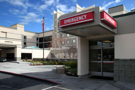 Emergency room at the hospital Stock Photo