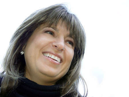 Closeup of a smiling woman Stock Photo - 347278