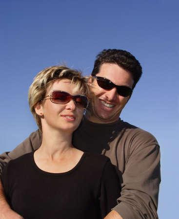 Couple against the sky Stock Photo - 355978