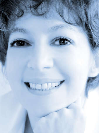 Closeup of a smiling woman Stock Photo - 356001