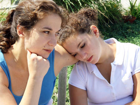 jeune fille adolescente: Probl�mes de famille