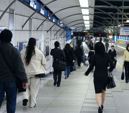 way of living: People in subway tunnel