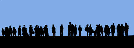 People in line silhouette Stock Photo - 386621