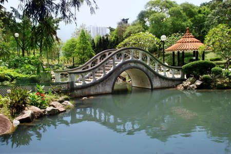 ponte giapponese: Park di Hong Kong (orizzontale)