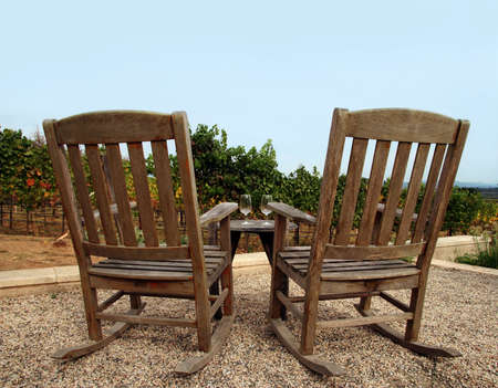 sonoma: Two chairs at vineyard, Napa valley
