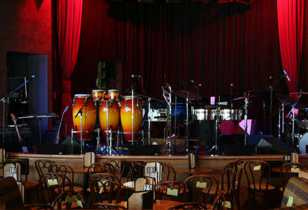 Stage is set in a jazz club