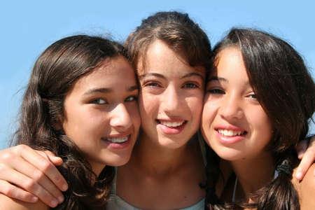 Three happy girls Stock Photo - 635323