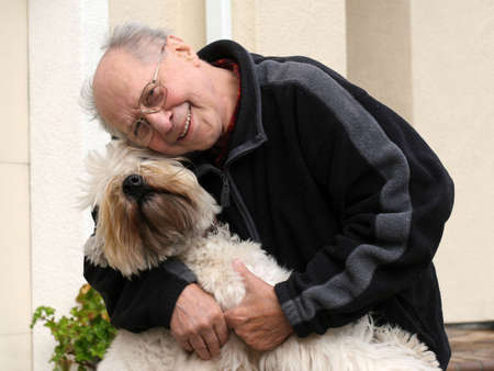 An old man and his dog