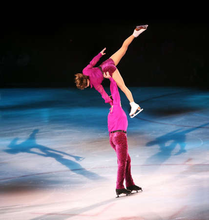 propel: Professional figure skaters performing at Stars on ice show