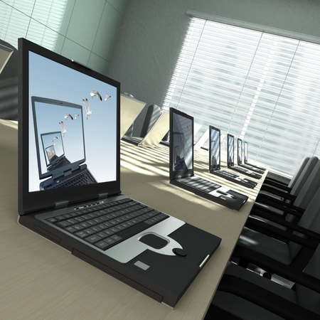 3D rendering of an empty meeting room