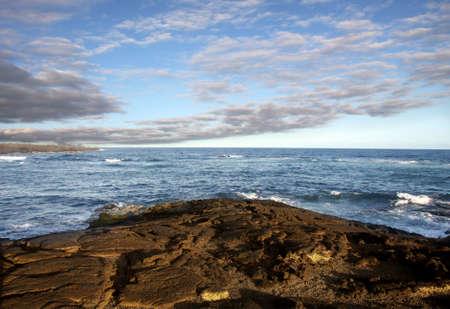 Old lava field on Big island, Hawaii photo