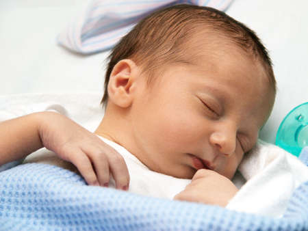 Sleeping baby on his first day Stock Photo - 3685588