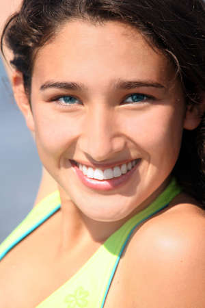 Closeup of a smiling teenage girl Stock Photo - 3961307
