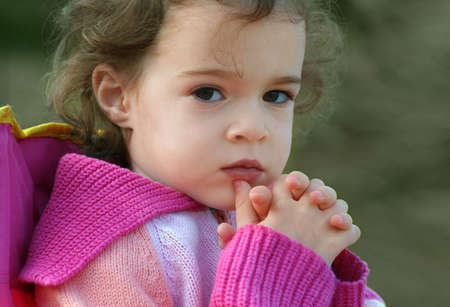 A portrait of a 4 year old cute little girl Stock Photo - 4042120